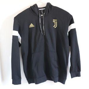 NEW Adidas Juventus Full Zip Hoodie Jacket Black